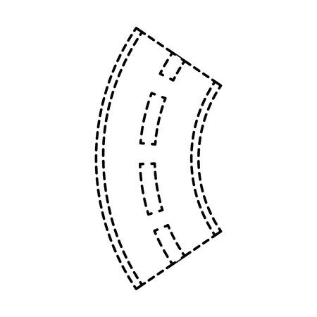 road winding street navigation element vector illustration