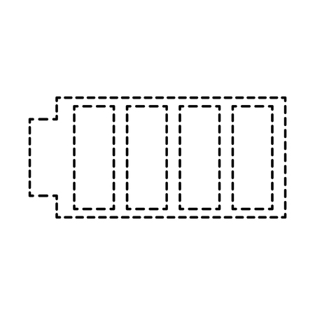 battery icon with full power charged electric vector illustration 版權商用圖片 - 89975591