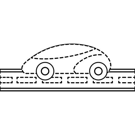 GPS-Navigation Auto smart auf der Straße Vektor-Illustration Standard-Bild - 89973810
