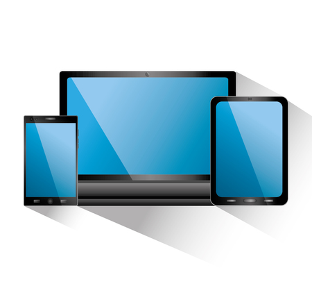 Smartphone tablet and laptop icon gadgets electronic vector illustration.