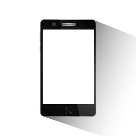 Mobile phone device white screen technology vector illustration.