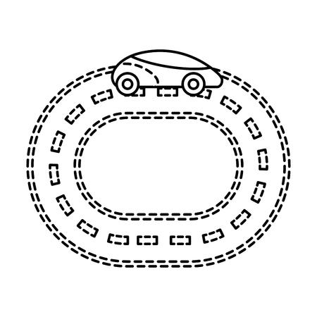 Autonomous car smart on the road navigation vector illustration Ilustração