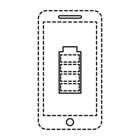 Smartphone battery energy full power app vector illustration Ilustracja