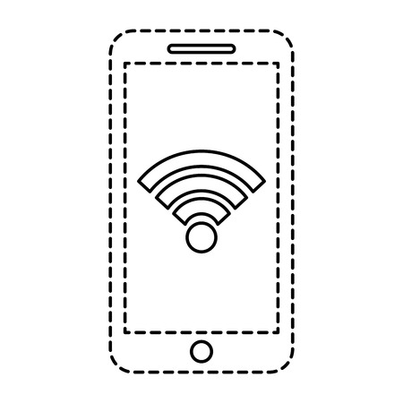 Smartphone wifi internet gps navigation app vector illustration
