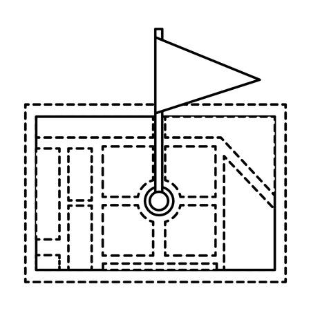 Gps ナビゲーション マップ先ピン マップ フラグ ベクトル イラスト