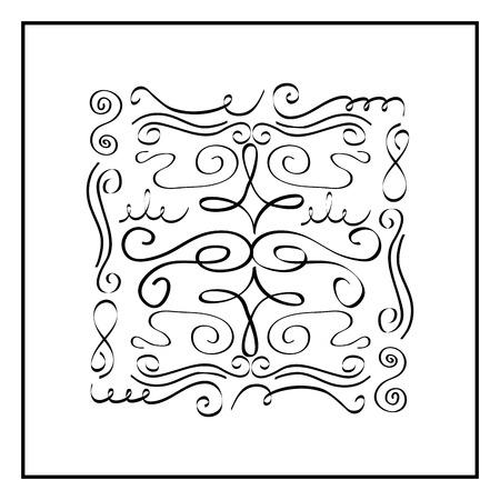 ヴィンテージ要素およびページ装飾華やかなスクロール ベクトル図 写真素材 - 89981438