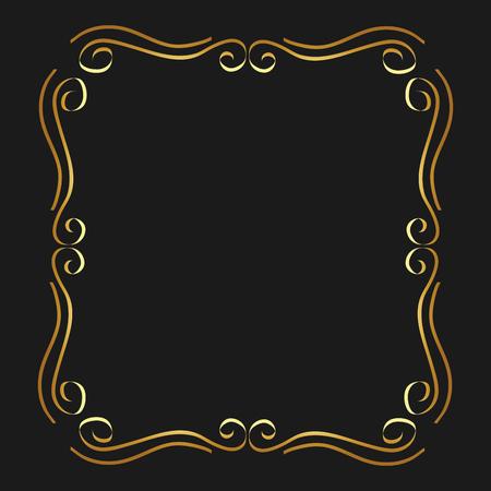 gouden kalligrafische bloeit decoratieve ornament ontwerp element swirl vector illustratie