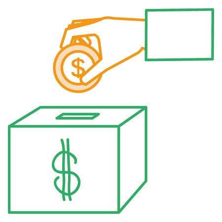savings box isolated icon vector illustration design Иллюстрация