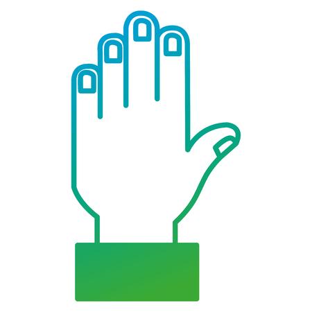 hand stoppen geïsoleerd pictogram vector illustratie ontwerp