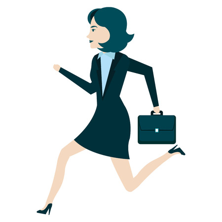 businesswoman with portfolio avatar character vector illustration design