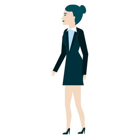 businesswoman profile avatar character vector illustration design