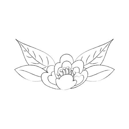 Illustrazione di vettore di immagine di fioritura di fiore di ciliegio foglie natura delicata Archivio Fotografico - 90043041