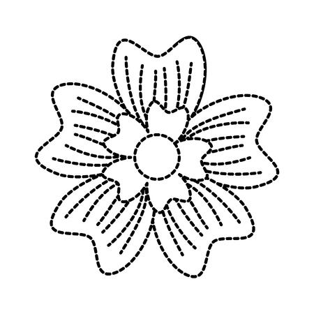 Immergrün Blume Schmuck Natur Pflanze Vektor-Illustration Standard-Bild - 90043050