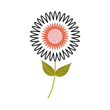 dahlia bloem bloemen ornament tuin petal bladeren stengel vectorillustratie