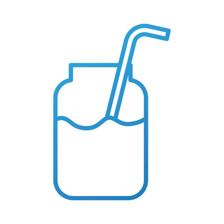 smoothie in glass jar natural healthy drink vector illustration Illustration