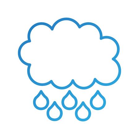 cloud rain drop weather climate icon vector illustration