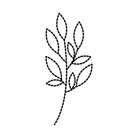 Planta de rama con hojas ilustración de vector de jardín follaje natural Foto de archivo - 90043140