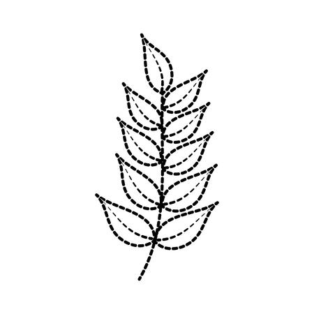tak plant met bladeren natuurlijke gebladerte tuin vectorillustratie