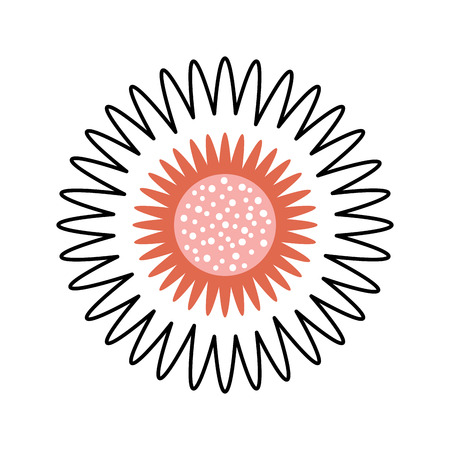 dahlia flower floral ornament garden image vector illustration Иллюстрация