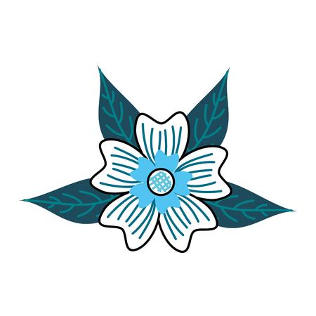 crocus 꽃 꽃잎 줄기 자연 장식 벡터 일러스트 레이 션 단풍 일러스트