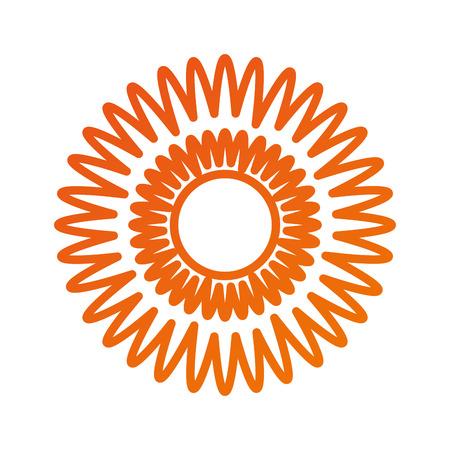 ダリア花の花飾りガーデンイメージベクトルイラスト