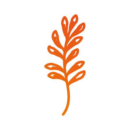Planta de rama con hojas follaje natural ilustración vectorial jardín Foto de archivo - 90043198