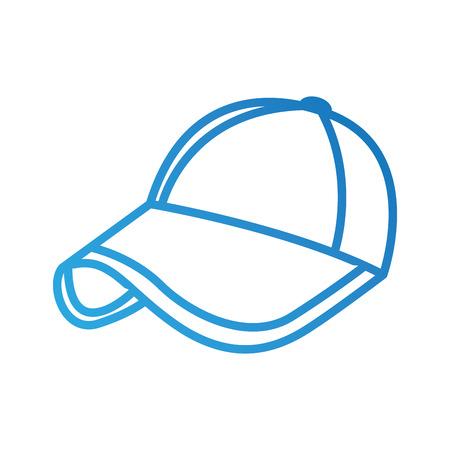 Ilustración de vector de protección de accesorio de moda deporte gorra de béisbol Foto de archivo - 90043205