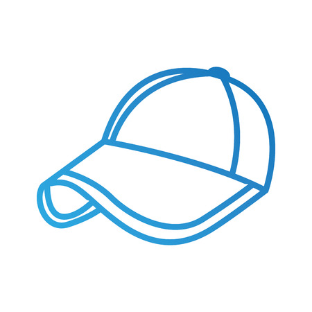 sport baseball cap fashion accessory protection vector illustration Illustration
