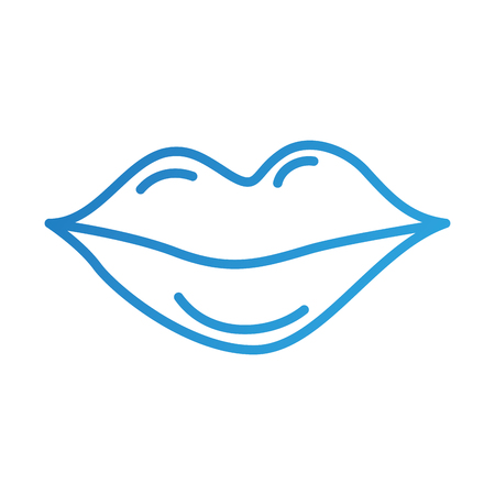 female lips beauty mouth natural icon vector illustration