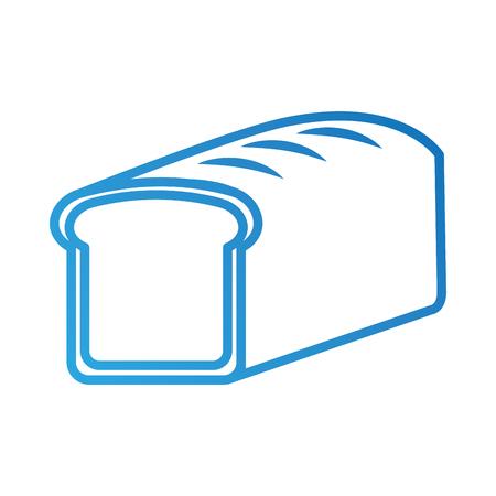 baked bread food breakfast fresh vector illustration Illustration