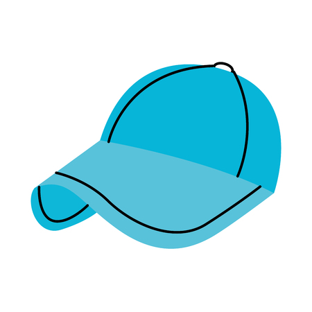 sport baseball cap fashion accessory protection vector illustration Çizim
