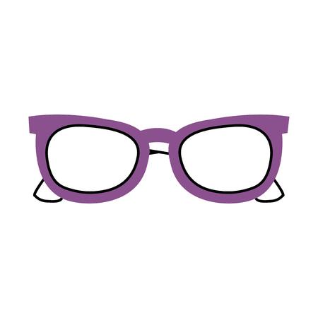 purple sunglasses modern trendy fashion cartoon vector illustration