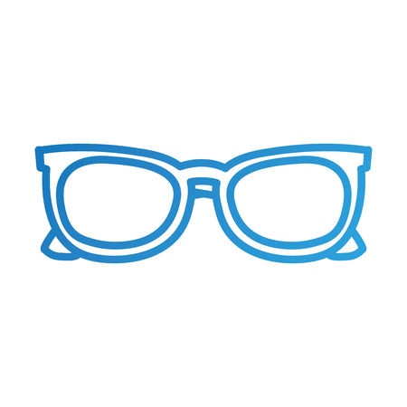 blue sunglasses modern trendy fashion cartoon vector illustration Ilustrace