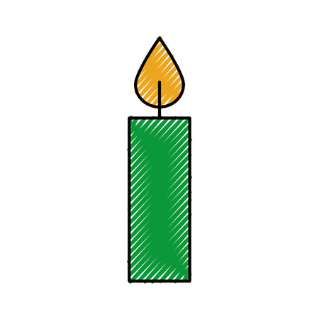 christmas candle burning celebration decoration vector illustration Stock fotó - 90043264