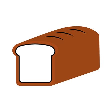 baked bread food breakfast fresh vector illustration Ilustrace