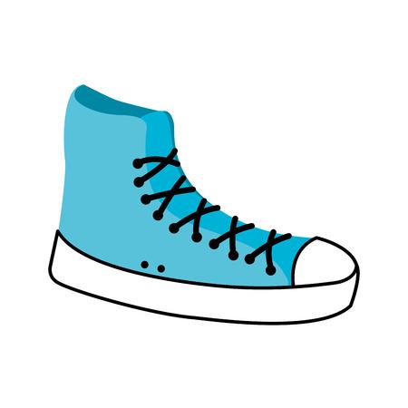 Illustrazione di vettore dell'icona di avvio casuale sport scarpa da tennis Archivio Fotografico - 90043303