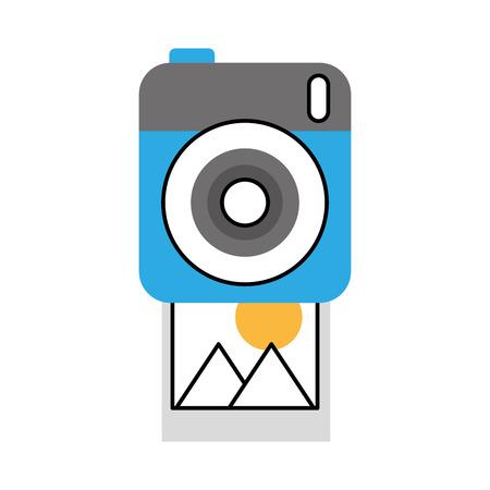 photo camera picture image design vector illustration
