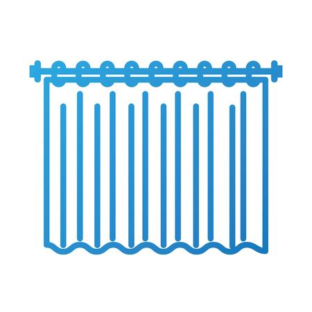 curtain clean interior element for bathroom vector illustration Illustration
