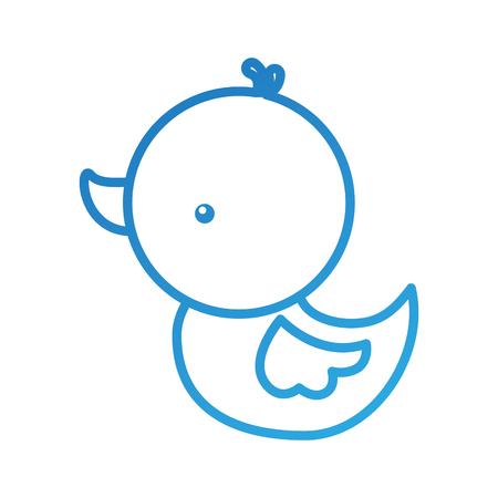 Mignon canard canard canard panda kid illustration vectorielle Banque d'images - 90043330