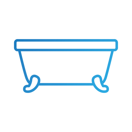 bathtub clean hygiene interior ceramic icon vector illustration