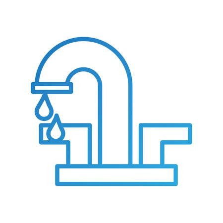 드롭 화장실 아이콘 벡터 일러스트와 함께 물 꼭지