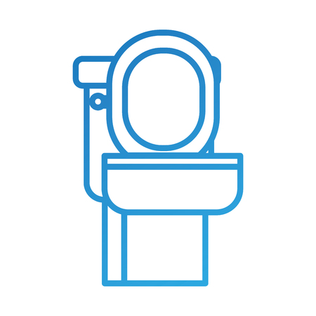 toilet bowl equipment bath ceramic cartoon icon vector illustration