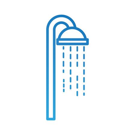 水滴流れるベクトルイラストと浴室のシャワーヘッド  イラスト・ベクター素材