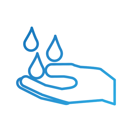 hand with water drop clean hygiene symbol Illustration