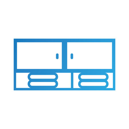 モジュール式家具バスタオルきれいベクトル図