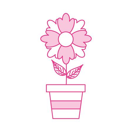 potted flower plant decoration botanical flora vector illustration Illusztráció