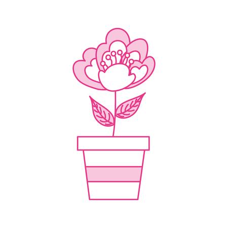 Illustrazione di vettore di immagine di fioritura delicata fiore di ciliegio in vaso Archivio Fotografico - 90043419