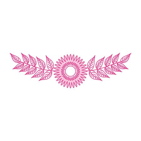 ダリアの花葉自然繊細な花ベクター イラスト