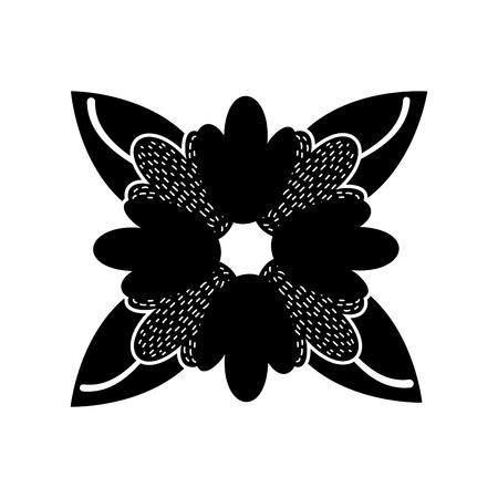 flower delicate leaves decoration botanical image vector illustration