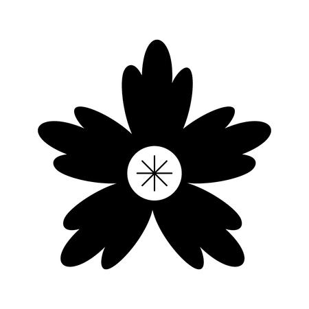 クロッカスの花自然装飾飾りベクトル図
